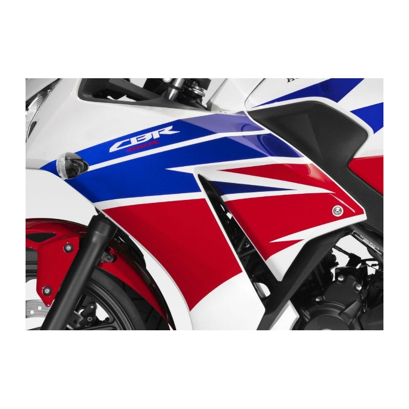 Stripes Left Middle Cowling Honda CBR300R Bicolor White/Red