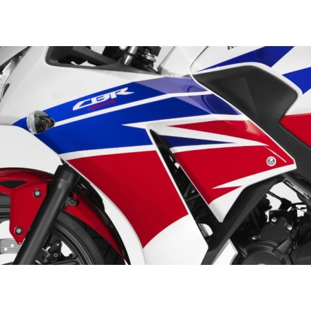 Autocollants Carénage Flanc Avant Gauche Honda CBR300R Bicolor Blanc/Rouge