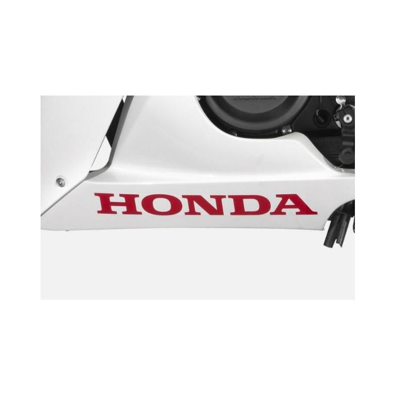 Autocollant Logo Inférieur Honda CBR300R Bicolor Blanc/Rouge