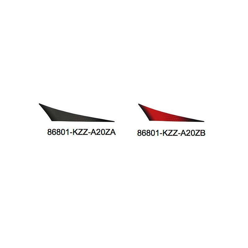 Stripe right rear fender Honda CRF 250M