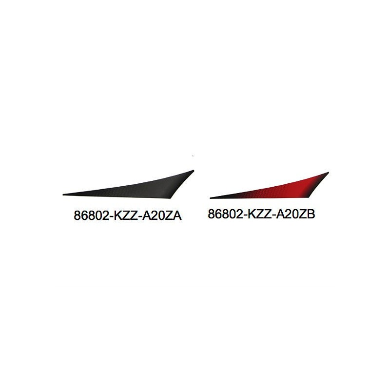 Stripe left rear fender Honda CRF 250M