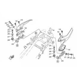 Kit Fixations Poignées Passager Yamaha MT-03 / MT-25