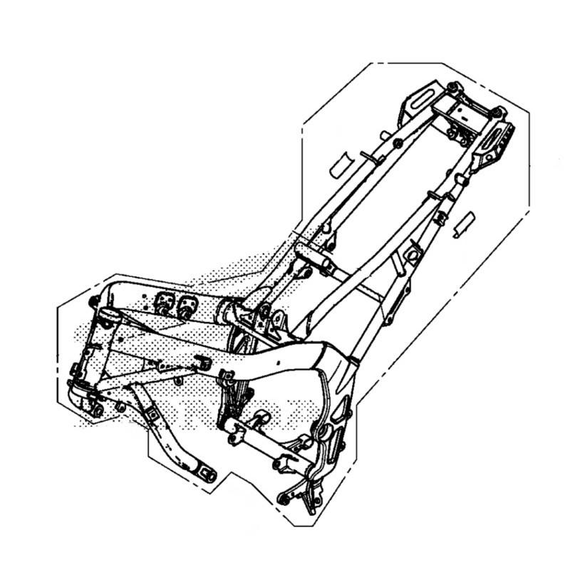 2548 Body Set Frame Honda Cb650f