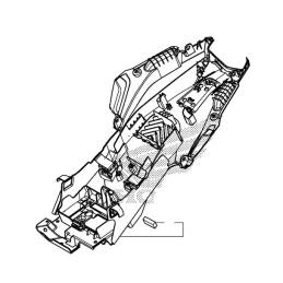 Fender Rear Inner Complete Honda CB500F 2016 2017 2018